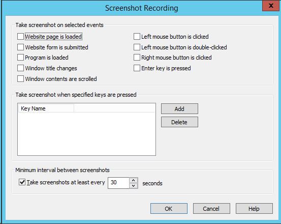 Screenshots Recording
