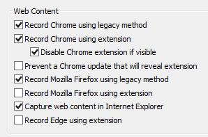 Web Extension Recording