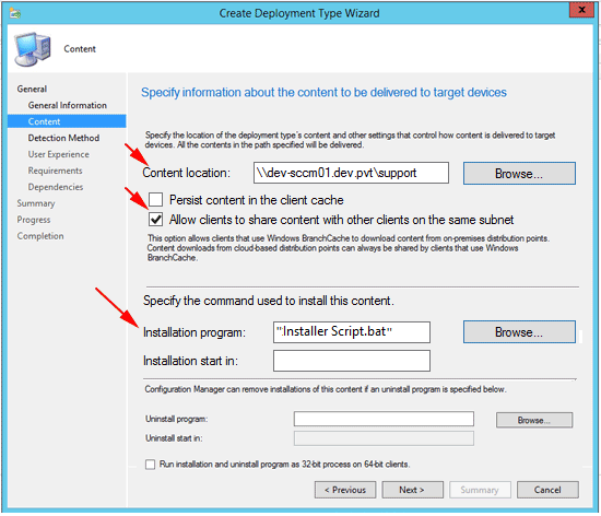 Deploying with SCCM