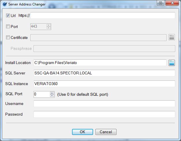 Changing the Server Address