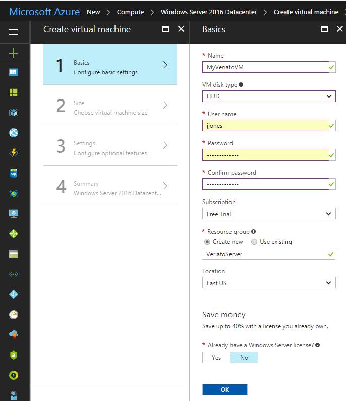 Set up Hosted SQL Server on Azure
